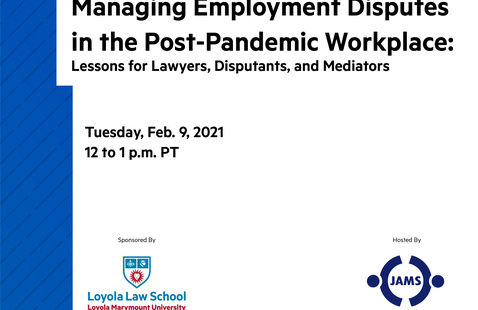 Managing Employment Disputes in the Post-Pandemic Workplace: Lessons for Lawyers, Disputants, and Mediators