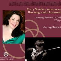 Marcy Stonikas, soprano and Ben Sung, violin Faculty Chamber Recital (UMA)