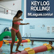 Key Log Rolling, student standing up on roller in the pool