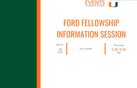 Ford Fellowships Information Session