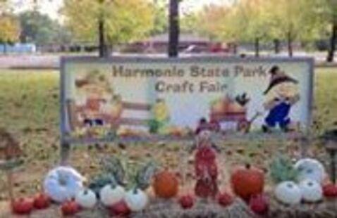 Craft Fair at Harmonie State Park sign