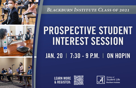 Prospective Blackburn Student Interest Session