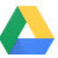 Image of Google Drive logo - triangle with yellow, green and blue slants
