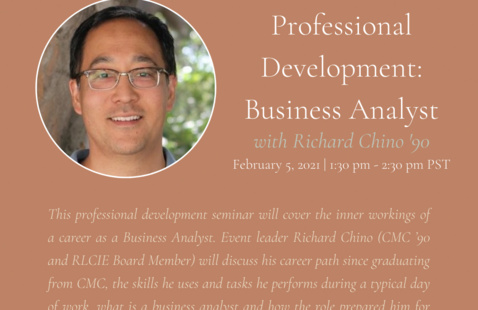 Professional Development Seminar - Business Analyst - with Richard Chino '90