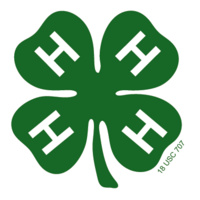 The 4-H logo, a green clover with white H's on the leaves on a background of white.