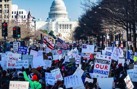 Marchers in D.C.