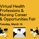 MU Health Professions & Nursing VIRTUAL Career & Opportunities Fair - March 16, 2021