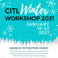Gearing up for your spring course? Attend the CITL Winter Workshop, Jan. 19-22 | LTS