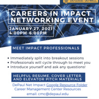 DNI Careers in Impact Networking Event