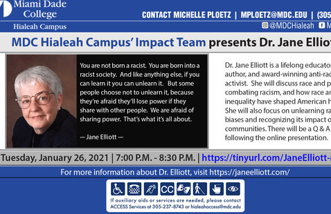 Conversation with Dr. Jane Elliott on Racism and Its Effects on Society