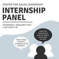 Center for Sales Leadership Internship Panel