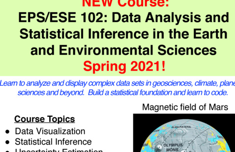 EPS/ESE 102: Data Analysis and Statistical Inference in the Earth and Environmental Sciences
