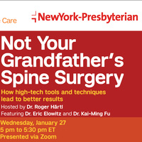 Spine Time - Not Your Grandfather's Spine Surgery
