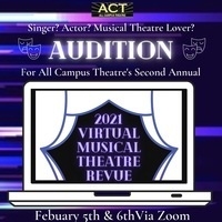 2021 Virtual Musical Theatre Revue Audition Poster