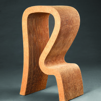 9.Designed by Frank Gehry (b. 1929) Manufactured by Easy Edges, Inc. (active 1969-73), Los Angeles, CA High Stool, 1971 Photo by Michael Koryta and Andrew VanStyn, Director of Acquisitions, Conservation and Photography