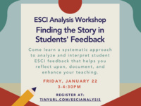 ESCI Analysis Workshop: Finding the Story in Students' feedback