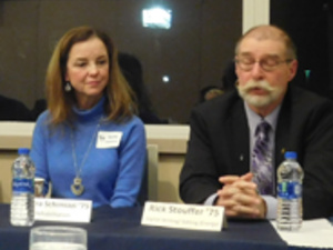 Two alumni panelists at a previous Professional Impressions event.