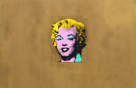Andy Warhol painting 'Gold Marilyn Monroe'