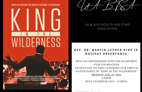"BFSA ""King In The Wilderness"" Virtual Watch Party"