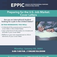 Preparing for the U.S. Job Market: Cover Letters