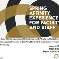 Spring Affinity Experience for Faculty and Staff