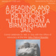 """Letter from a Birmingham Jail"" Reading and Discussion"