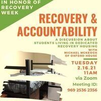 Recovery and Accountability: Students Living in Dedicated Recovery Housing