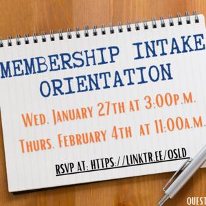 Membership Intake Orientation