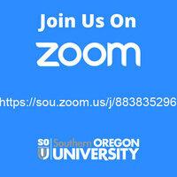 Join Us on Zoom! Meeting link: https://sou.zoom.us/j/88383529607. SOU Banner Logo.