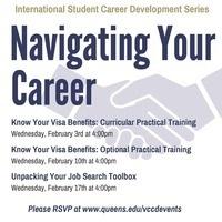 International Student Series:  Navigating Your Career