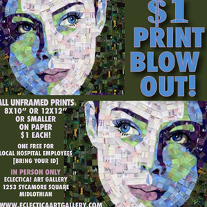 $1 PRINT BLOW OUT
