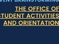 Event Brainstorming: The Office of Student Activities and Orientation