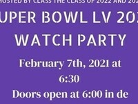Hosted by the Class of 2022 and 2024: Super Bowl LV Watch Party. February 7, 2021 at 6:30 PM, doors open at 6:00 in de Witt Hall.