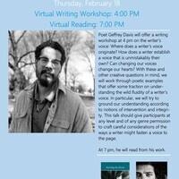 Visiting Writers Series: Writing Workshop with Geffrey Davis
