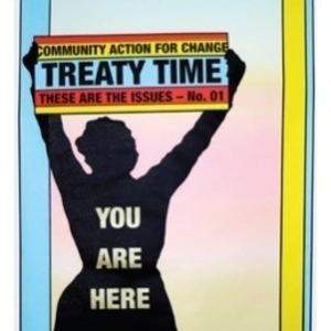 "Alison Alder. ""Treaty Time"". 2019. Screen print on paper, 51 x 76cm"