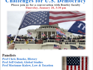 A panel discussion on 'Attack on the Capital, Challenges for U.S. Democracy'