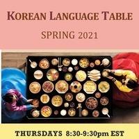 Korean Language Table