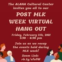 MLK Week Concluding Virtual Social