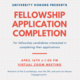 Fellowship Application Completion