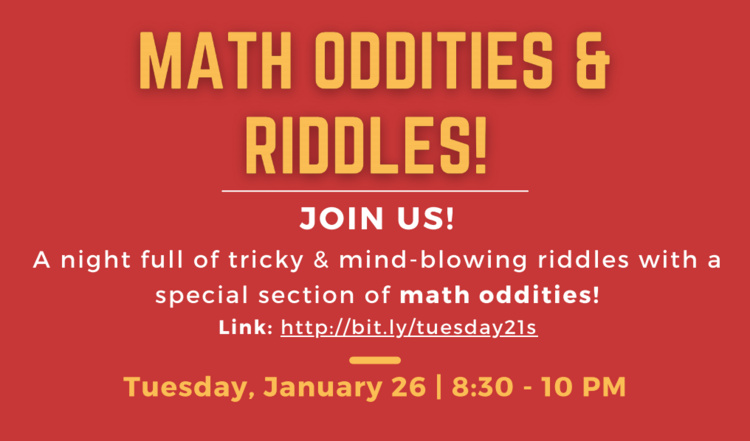 Math Oddities and Riddles Night