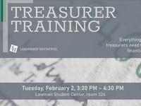 Treasurer Training