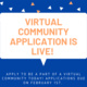 Virtual Community Application Kickoff!