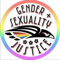Gender and Sexuality Logo with SOU Raider Hawk