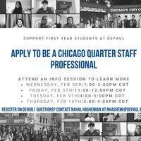 Chicago Quarter Staff Professional Info Session #1