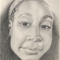 Keilany J Falu, Sketching Paper with Graphite Pencil by Julio Falu
