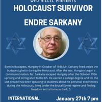International Holocaust Remembrance Day Speaker