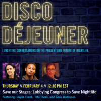 Save our Stages: Lobbying Congress to Save Nightlife during COVID