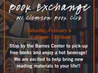 U-NITES! Book Exchange with Clemson Book Club