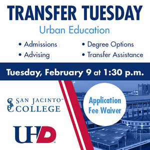 Virtual Transfer Tuesday Urban Education, Admissions, Advising, Degree Options, Transfer Assistance. Application Fee Waiver