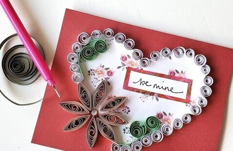 Gray Fund Presents: Paper Quilling Valentine's Day Card Class
